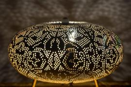 Tafellamp filigrain ufo - wit goud