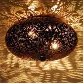 Plafondlamp filigrain  patina roest - 25 cm.