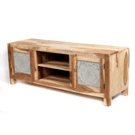 Oosters tv meubel met transparant mozaïek.