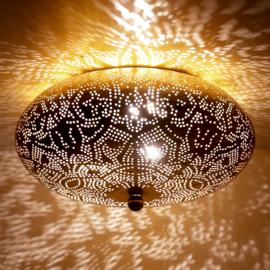 Plafondlamp filigrain  goudkleurig - 25 cm.