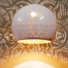 Oosterse hanglamp open onderkant - wit/goud