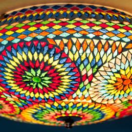 Plafondlamp multi color - 50 cm. -Turks design