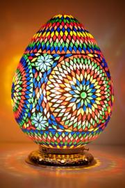 Oosterse mozaïek tafellamp Carica - multi color