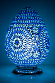 Oosterse mozaïek tafellamp Carica - blauw