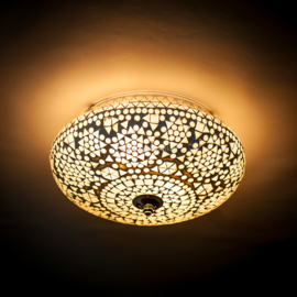 Plafondlamp mozaïek  transparant - 25 cm.