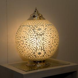 Mozaïek tafellamp 25 cm. - transparant - Turks