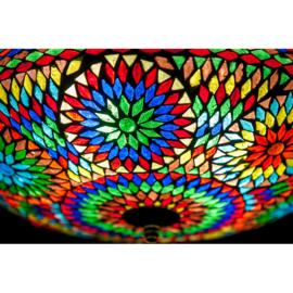 Plafondlamp mozaïek multi color - 38 cm. - Turks design