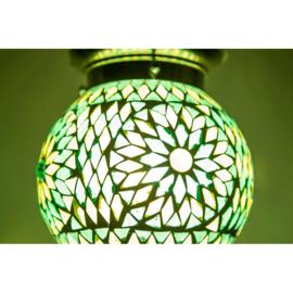 Oosterse hanglamp Bibi groen mozaïek