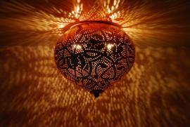 Plafondlamp Aladdin filigrain  - koperkleurig