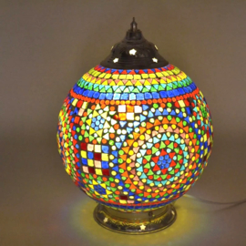 Mozaïek tafellamp 25 cm. - multi color
