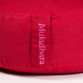 Meditatiekussen - poef 1e Chakra rood