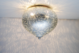 Plafondlamp Aladdin filigrain - zilverkleurig