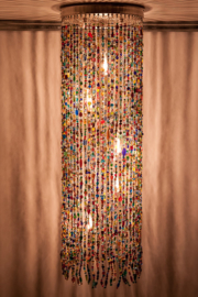 Hanglamp glaskralen multi color