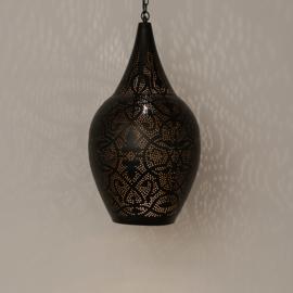 Hanglamp vaas filigrain zwart-vintage goud