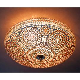 Plafondlamp mozaïek paars - 50 cm.