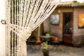 Vliegengordijn glaskralen transparant