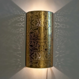 Oosterse wandlamp filigrain - goud