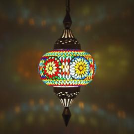 Oosterse mozaïek hanglamp pumpkin multi color