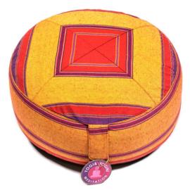 Yogi meditatiekussen 100% katoen multi kleuren.