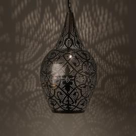 Hanglamp vaas filigrain vintage zilver
