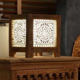 Oosters nachtkastlampje square - transparant