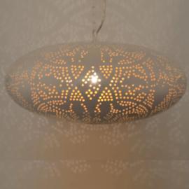 Filigrain hanglamp ufo wit-goud