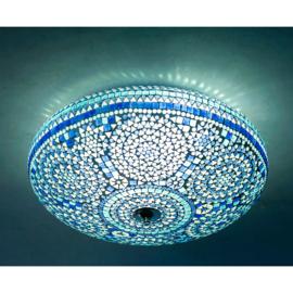Plafondlamp mozaïek blauw - 50 cm.