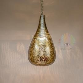 Oosterse filigrain hanglamp Agra - zilver