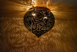 Plafondlamp Aladdin filigrain - zwart