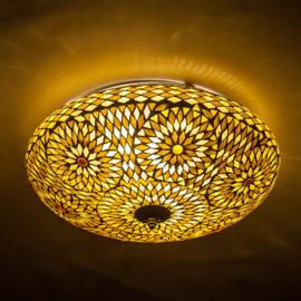 Plafondlamp mozaïek bruin beige - 38 cm. - Turks design