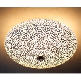 Plafondlamp mozaïek transparant - 50 cm.