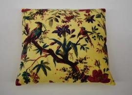Oosters sierkussen Pakshiyon - 50x50 cm. geel