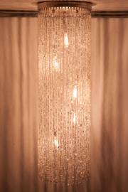 Hanglamp glaskralen transparant
