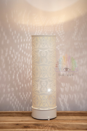 Vloerlamp filigrain - wit - 65 cm.