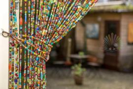 Vliegengordijn glaskralen multi colour 250