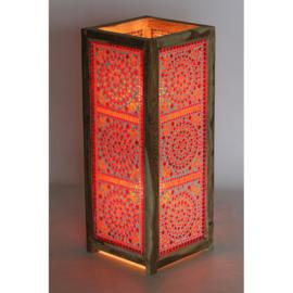 Vloerlamp mozaïek rood en oranje - 60 cm.