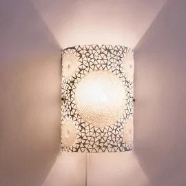 Oosterse mozaïek kralen wandlamp cilinder - transparant