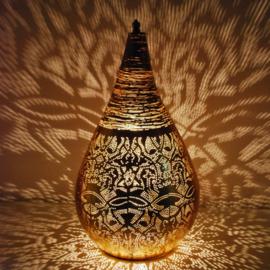 Tafellamp filigrain/draad vintage goudkleurig - L