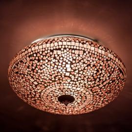 Plafondlamp mozaïek paars - 38 cm.