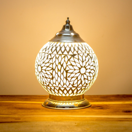 Mozaïek tafellamp transparant - 15 cm.
