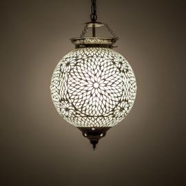 Hanglamp transparant mozaïek - Turks design - 25 CM.