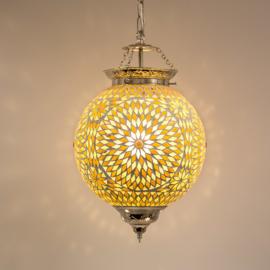 Hanglamp bruin beige mozaïek - Turks design 25 cm.