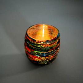 Waxinehouder bangles multi colour. (set prijs)
