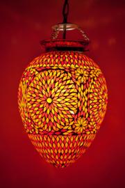 Oosterse mozaïek hanglamp Carica - rood en oranje