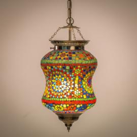 Oosterse diabolo hanglamp mozaiek.
