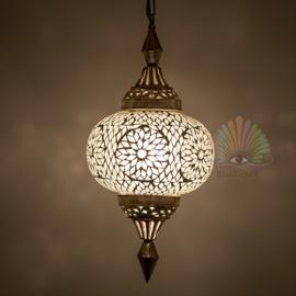 Oosterse mozaïek hanglamp pumpkin transparant