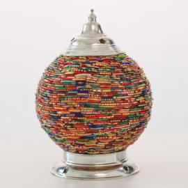 Oosterse tafellamp bangles multi color - 15 cm.
