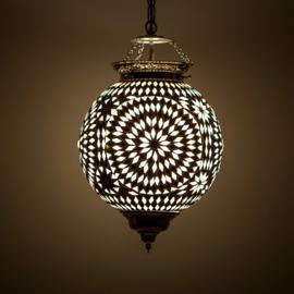 Hanglamp zwart-wit mozaïek - Turks design - 25 cm.
