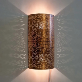 Oosterse wandlamp filigrain - koper