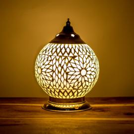 Oosters mozaïek tafellamp 15 cm. - transparant